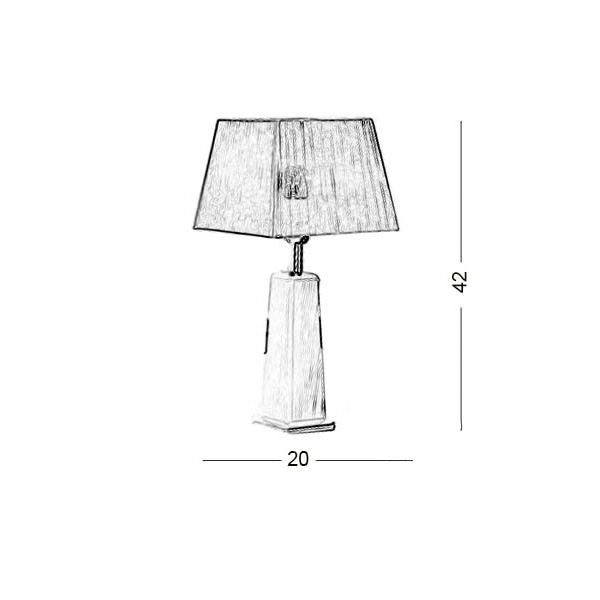 Table lamp | TRAPEZIO ZEN - Drawing - Table lamp | TRAPEZIO ZEN