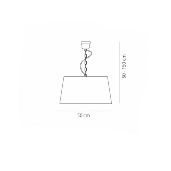 Rustic suspension lamp | TURN RUSTICO - Drawing - Rustic suspension lamp | TURN RUSTICO