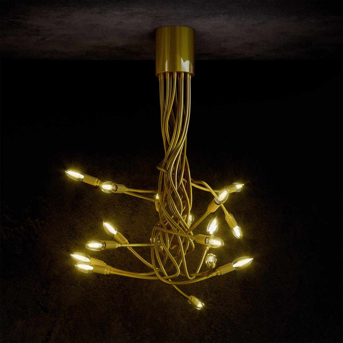 Φωτιστικό με εύκαμπτους βραχίονες ΜΕΔΟΥΣΑ light fixture with flexible arms
