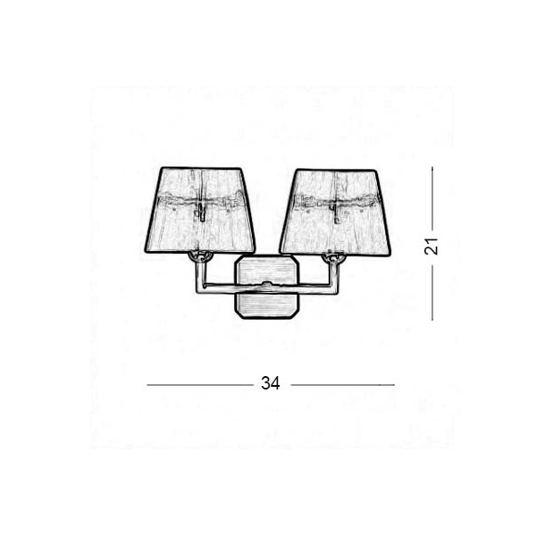 Wall lamp with shade | TRAPEZIO ZEN - Drawing - Wall lamp with shade | TRAPEZIO ZEN