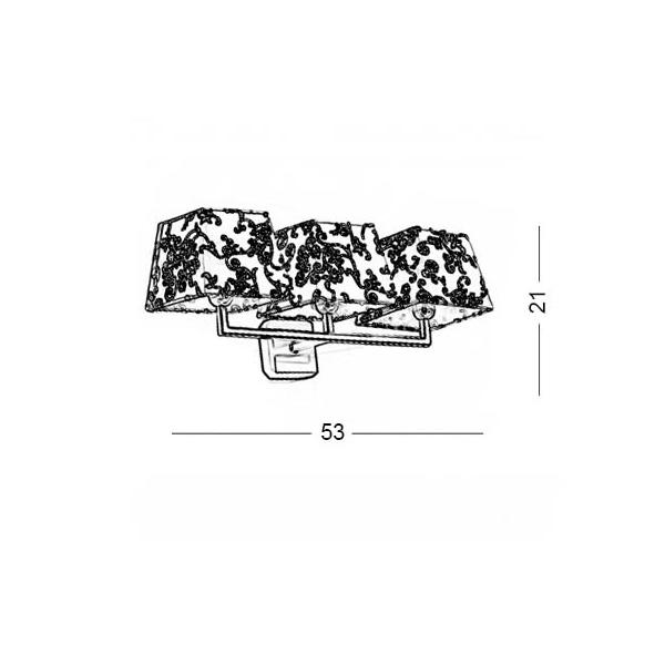 Modern wall lamp | TRAPEZIO ZEN - Drawing - Modern wall lamp | TRAPEZIO ZEN