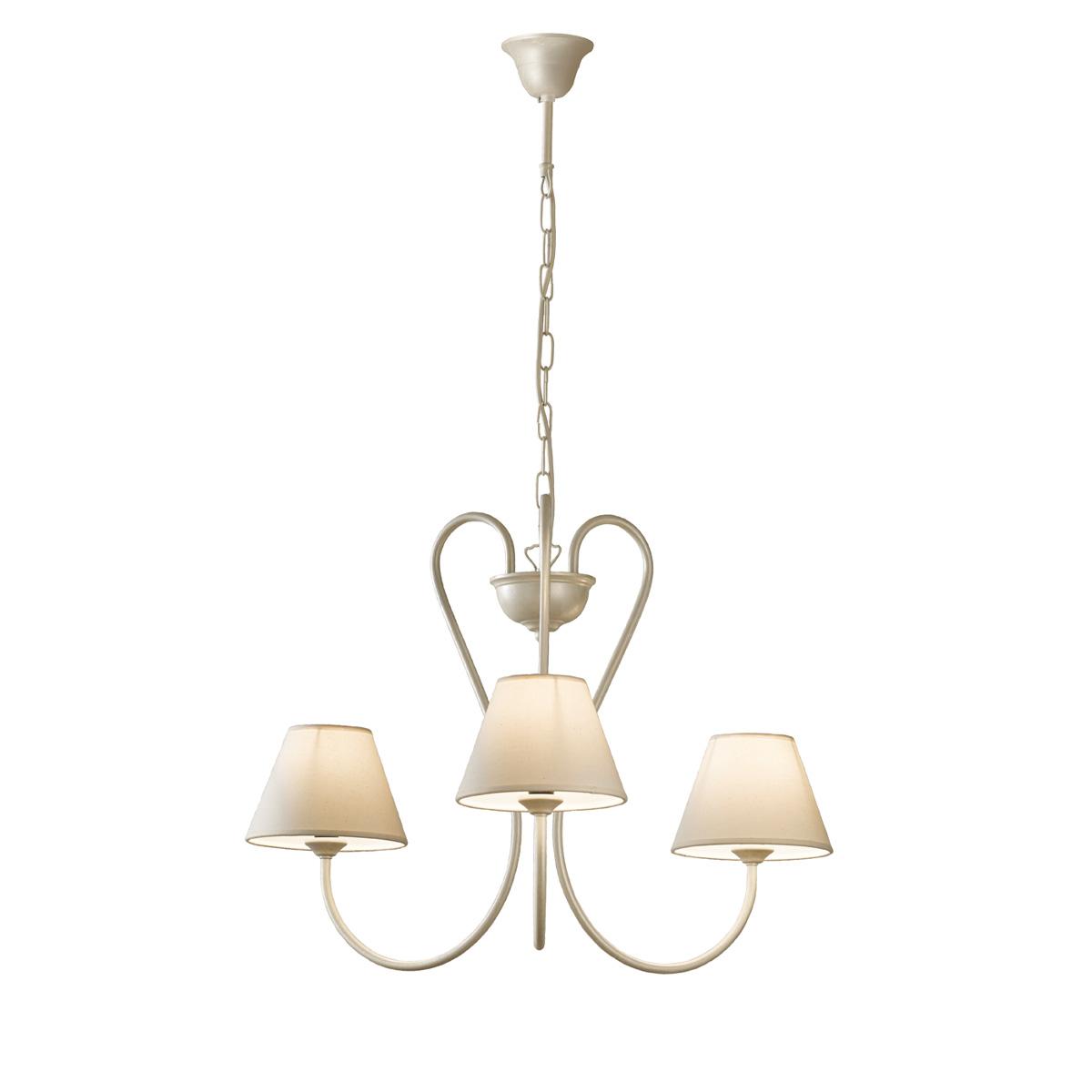 3φωτο ρουστίκ κρεμαστό φωτιστικό σε λευκή πατίνα ΝΑΞΟΣ-2 3-bulb white patinated rustic pendant lamp