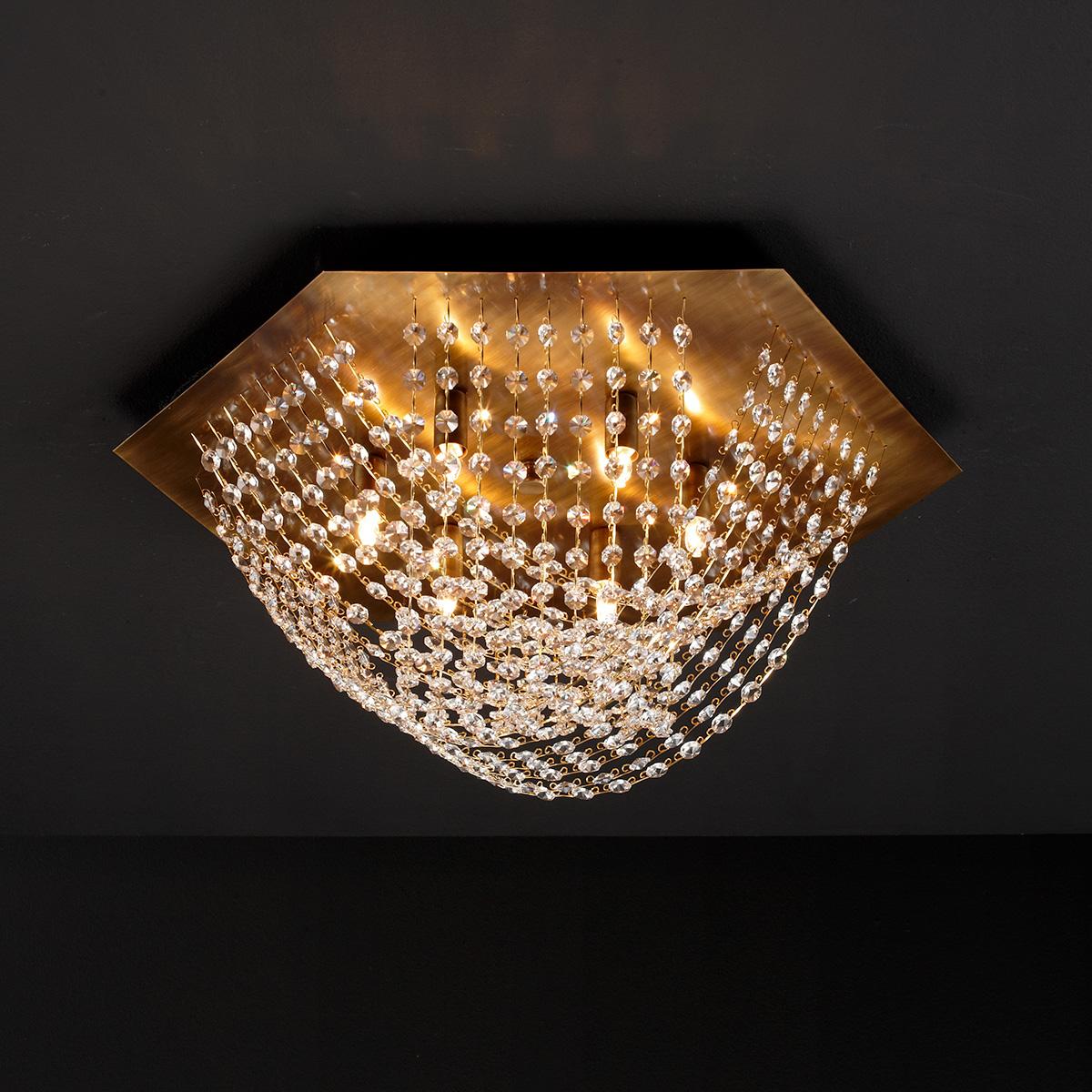 Κλασικό φωτιστικό οροφής με κρύσταλλα ΔΙΟΝ classic ceiling lamp with crystal accents