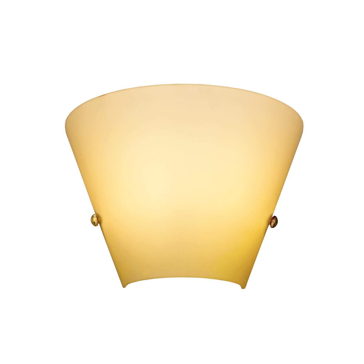 Μελί φωτιστικό τοίχου Μουράνο ΚΩΝΟΙ amber Murano wall lamp