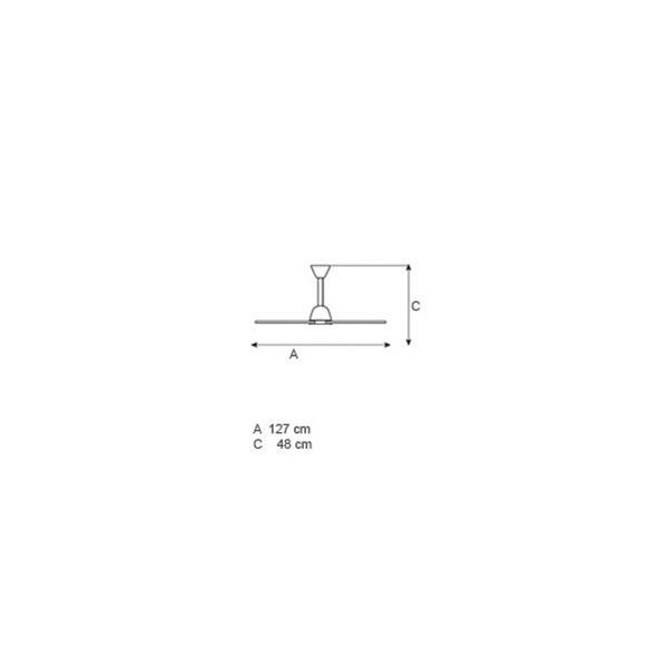 No-light ceiling fan | GHOST - Drawing - No-light ceiling fan | GHOST
