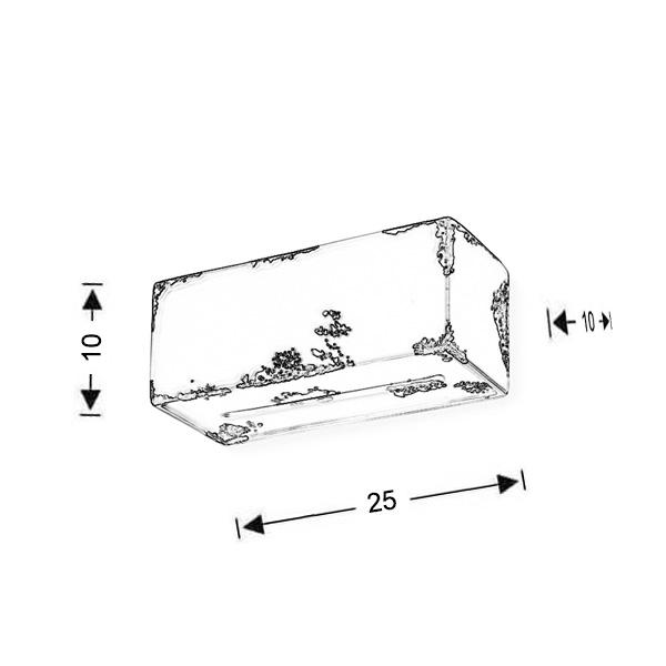 Κεραμικό επιτοίχιο φωτιστικό | VINTAGE - Σχέδιο - Κεραμικό επιτοίχιο φωτιστικό | VINTAGE