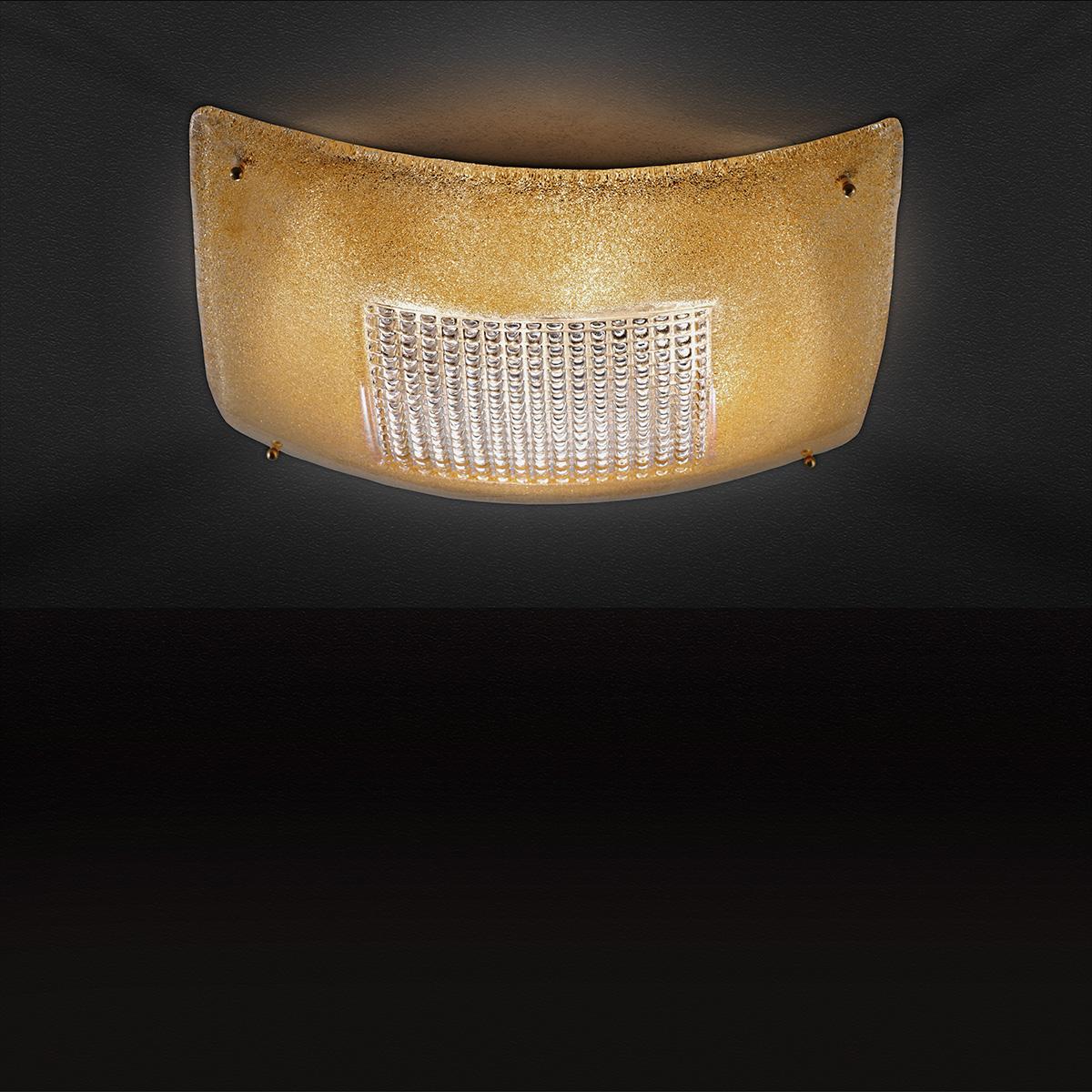 Κλασική πλαφονιέρα από κρύσταλλο Μουράνο SQUARE classic Murano crystal ceiling lamp