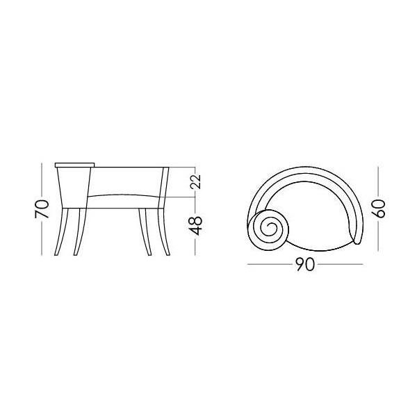 Πολυθρόνα κουτσομπόλα | LA CARACOLA - Σχέδιο - Πολυθρόνα κουτσομπόλα | LA CARACOLA