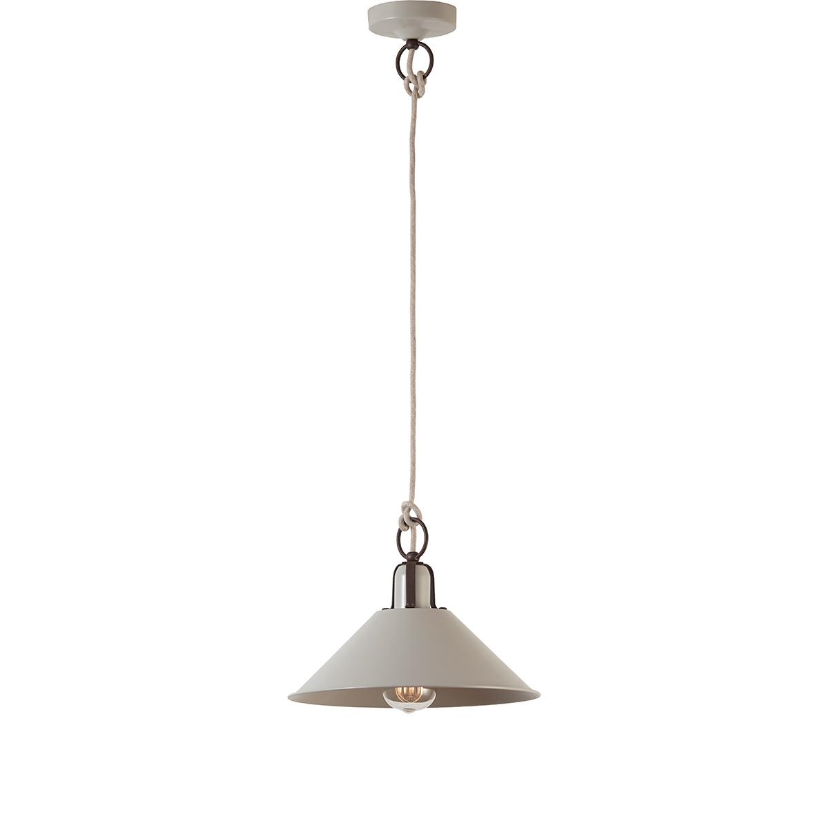Ρετρό κρεμαστό φωτιστικό ανοιχτό γκρί ΜΗΛΟΣ retro pendant lamp silk grey