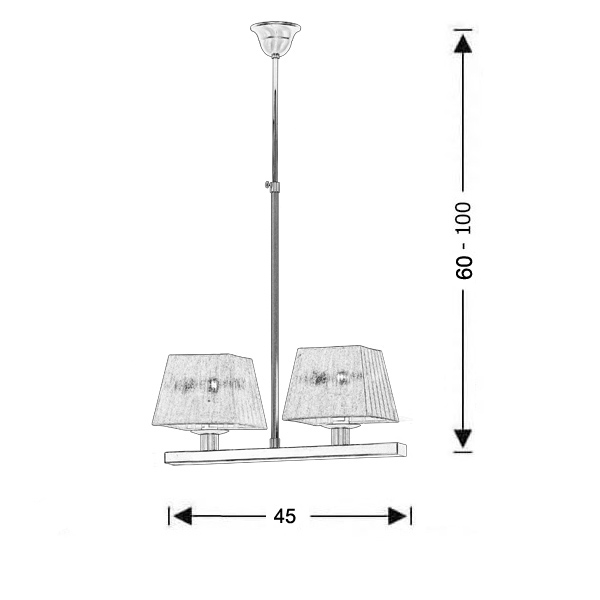 Modern chandelier with shades | SMART-SILVER - Drawing - Modern chandelier with shades | SMART-SILVER