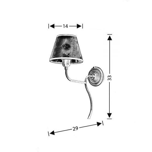 Classic wall lamp with shade | ELATI - Drawing - Classic wall lamp with shade | ELATI