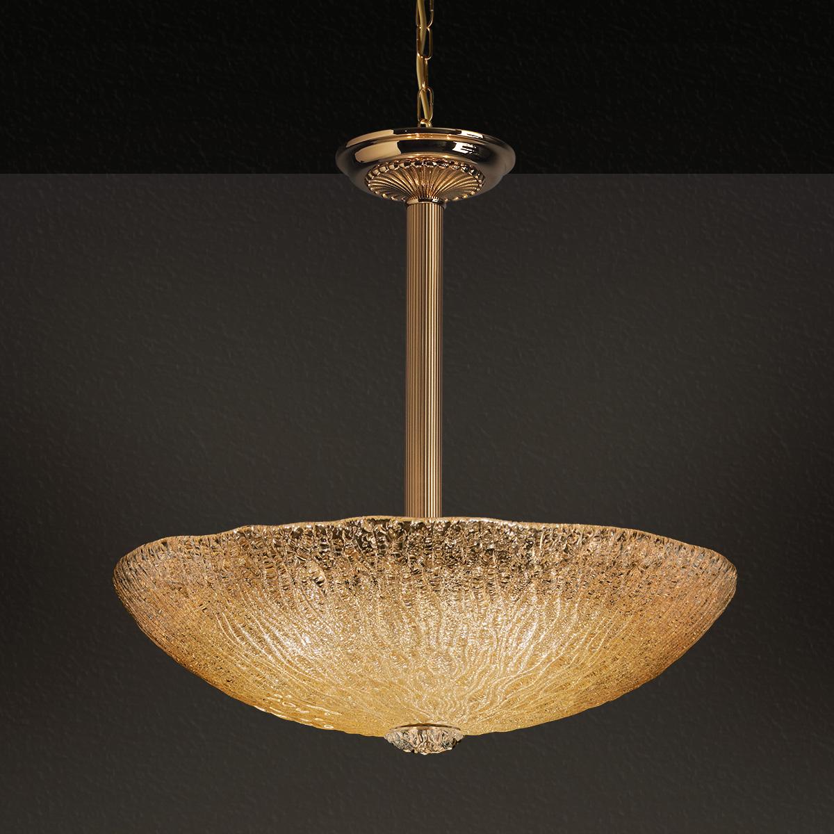 Κλασικό κρεμαστό φωτιστικό Μουράνο ΚΥΜΑΤΑ classic Murano suspension lamp