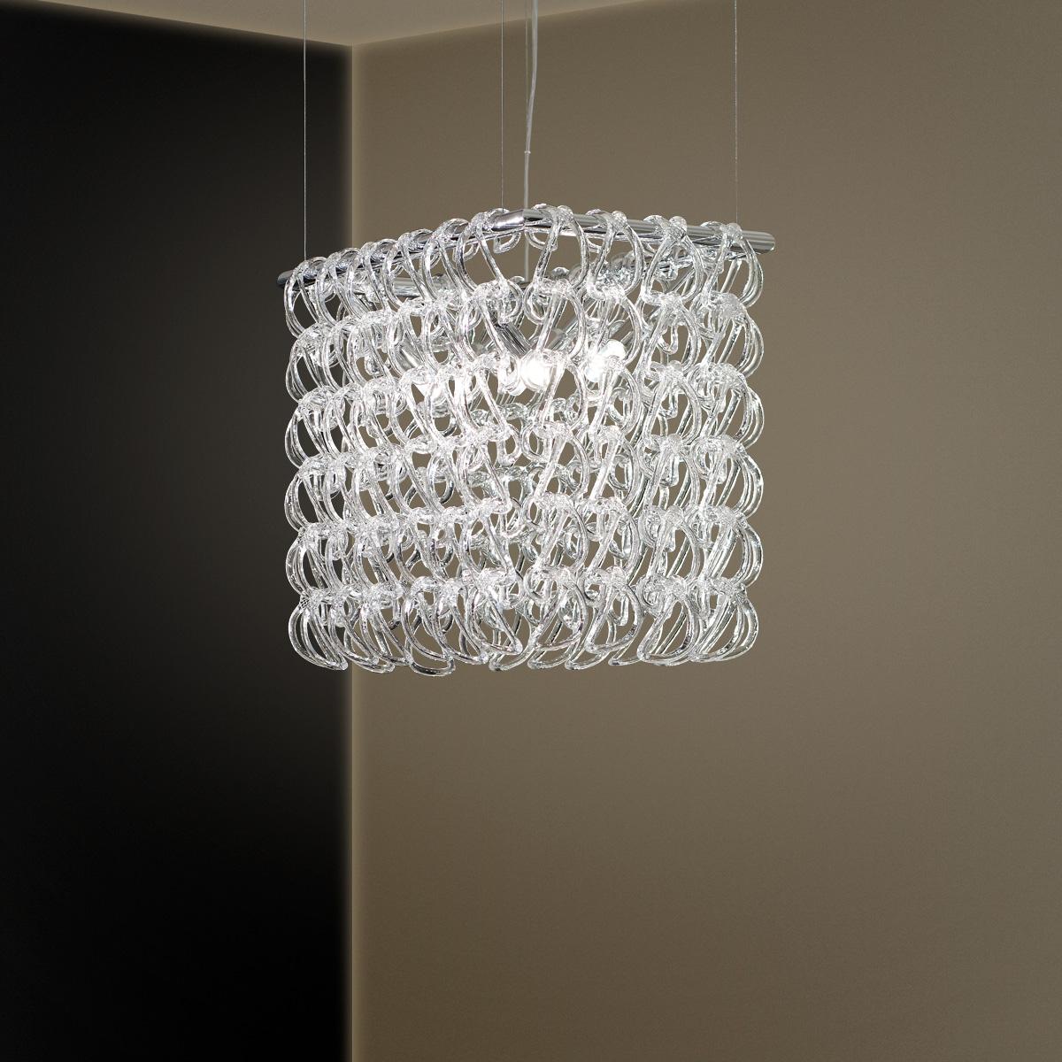 Πολύφωτο με κρύσταλλα ΓΑΝΤΖΟΙ chandelier with Murano crystals