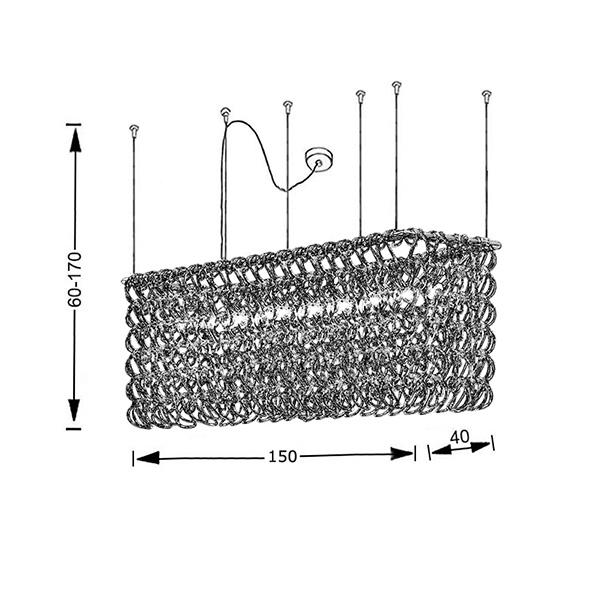 Murano crystal chandelier | GANCI - Drawing - Murano crystal chandelier | GANCI