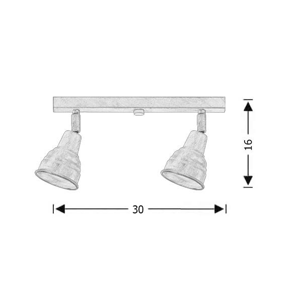Ρουστίκ 2φωτη ράγα | ΙΟΣ - Σχέδιο - Ρουστίκ 2φωτη ράγα | ΙΟΣ