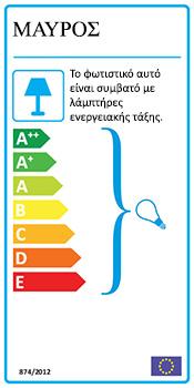 Ενεργειακή Κλάση - Οκτάφωτο φωτιστικό ρουστίκ | SMART-CAFE