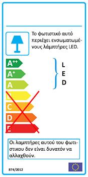 Ενεργειακή Κλάση - Ανεμιστήρας οροφής πορτοκαλί | SWING LED