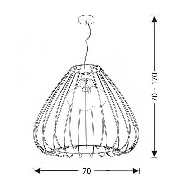 Modern cage pendant light | CELLI - Drawing - Modern cage pendant light | CELLI