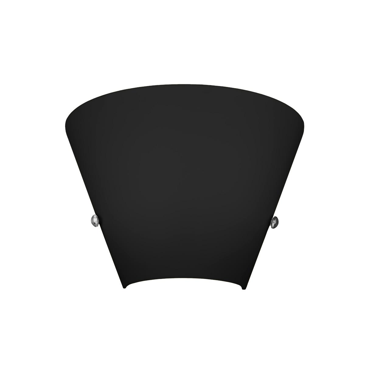 Μαύρο φωτιστικό τοίχου Μουράνο ΚΩΝΟΙ black Murano wall lamp