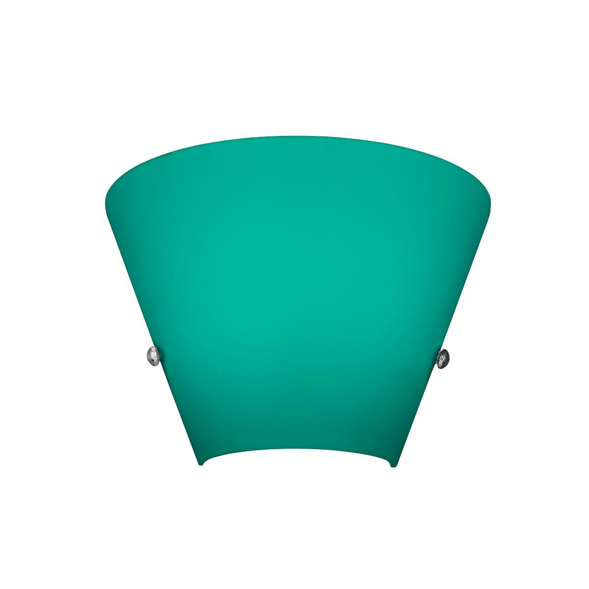 Πράσινο φωτιστικό τοίχου Μουράνο ΚΩΝΟΙ green Murano wall lamp