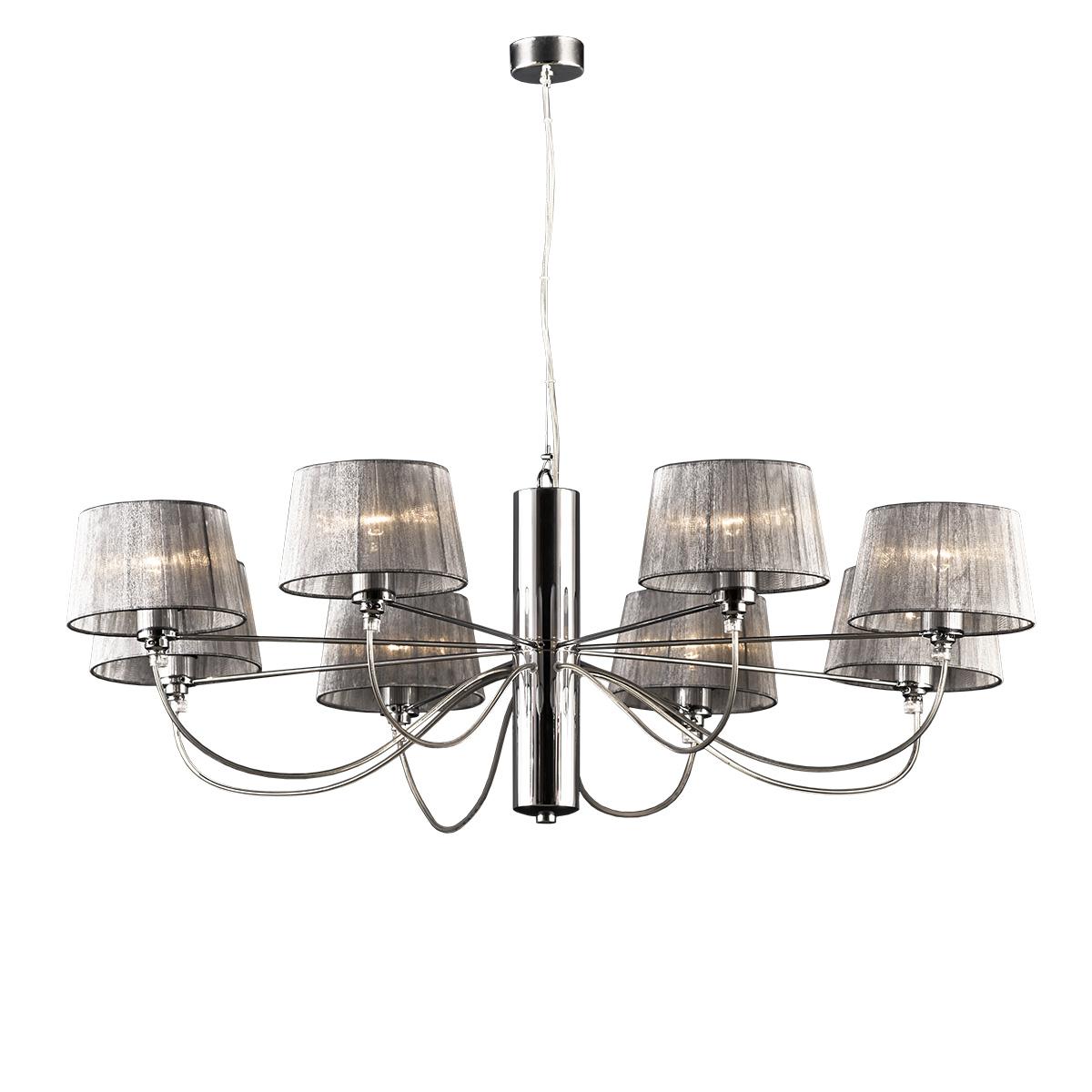 Χρώμιο μοντέρνο 8φωτο φωτιστικό ΟΡΓΑΝΤΖΑ modern chrome 8-bulb chandelier