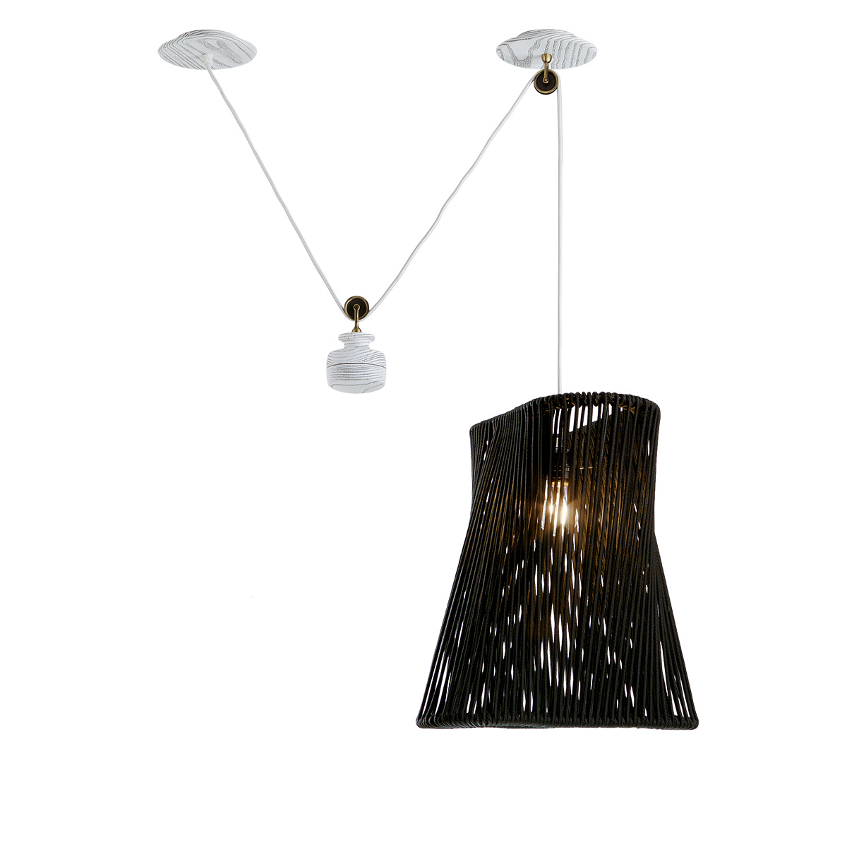 Κρεμαστό ξύλινο φωτιστικό TIMBER wooden pendant lamp