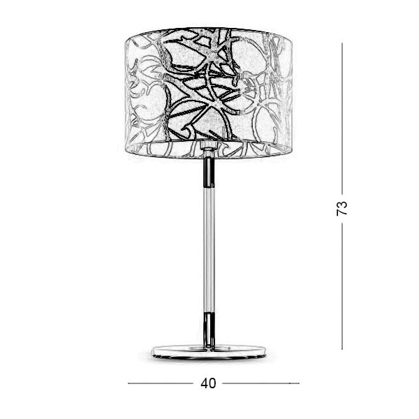 Table lamp | DISK II - Drawing - Table lamp | DISK II