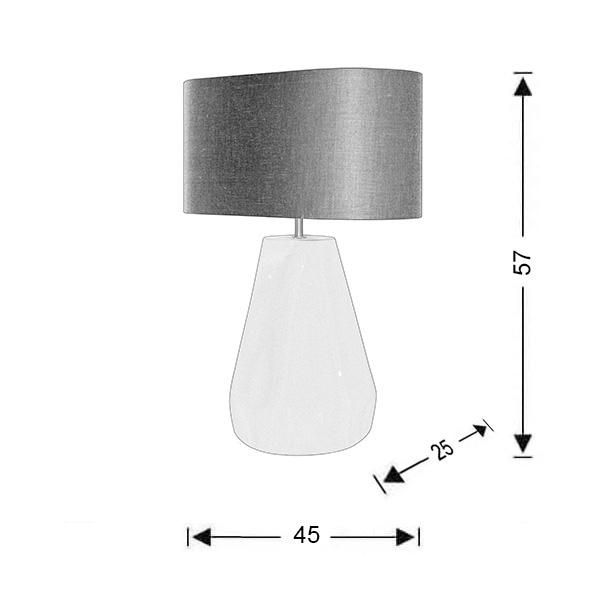 Modern table lamp | PAPAYA collection - Drawing - Modern table lamp | PAPAYA collection