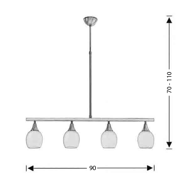 Suspension lamp | LINES - Drawing - Suspension lamp | LINES