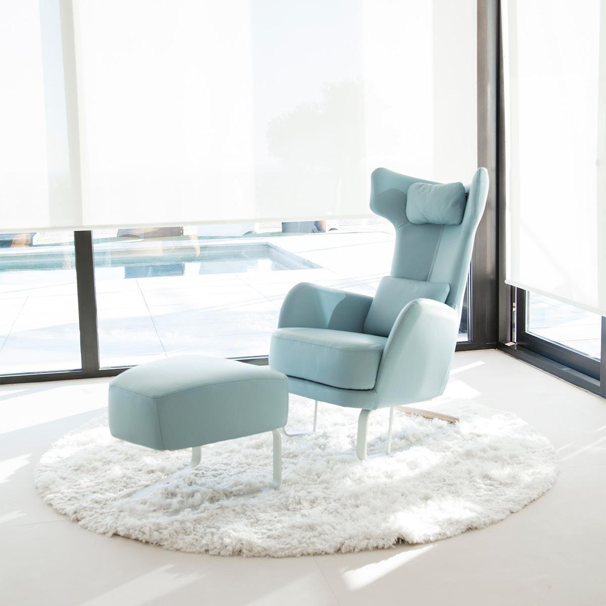 Μοντέρνα κουνιστή καρέκλα με υποπόδιο KANGOU modern rocking chair