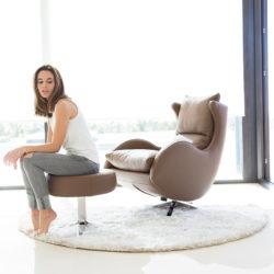 Πολυθρόνα με υποπόδιο LENNY armchair - footstool