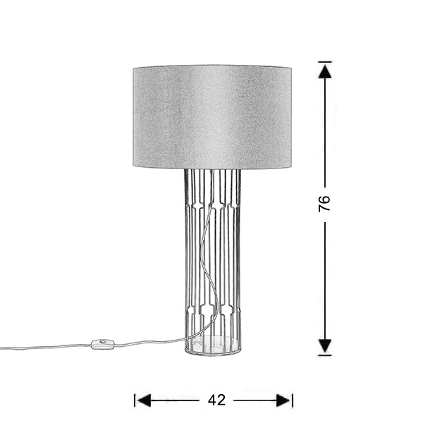 Modern table lamp | IMPERIAL - Drawing - Modern table lamp | IMPERIAL