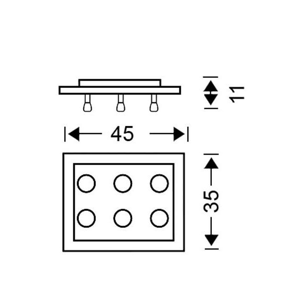 Μοντέρνο 6φωτο φωτιστικό οροφής | VETRO - Σχέδιο - Μοντέρνο 6φωτο φωτιστικό οροφής | VETRO