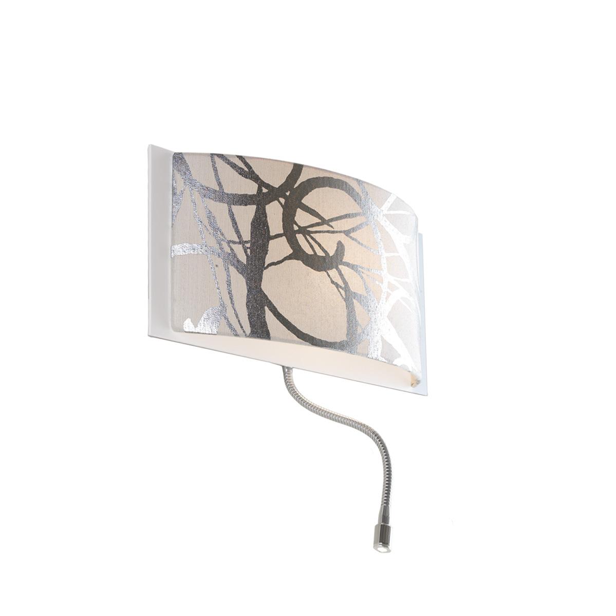 Υφασμάτινη απλίκα με σποτ LED DISK II fabric wall lamp with LED spot