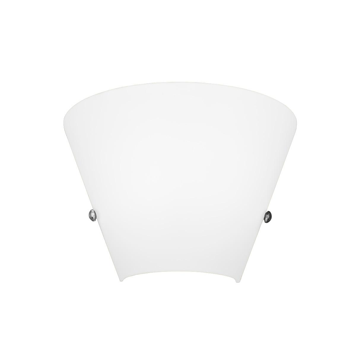 Λευκό φωτιστικό τοίχου Μουράνο ΚΩΝΟΙ white Murano wall lamp