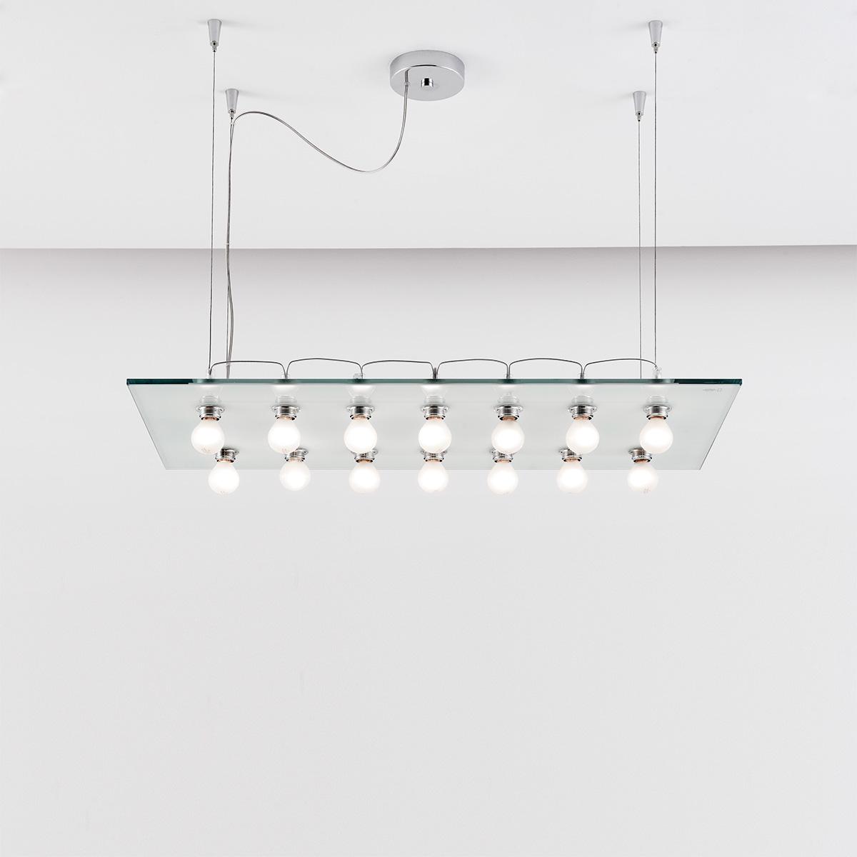 Μοντέρνο 14φωτο φωτιστικό VETRO modern 14-bulb chandelier
