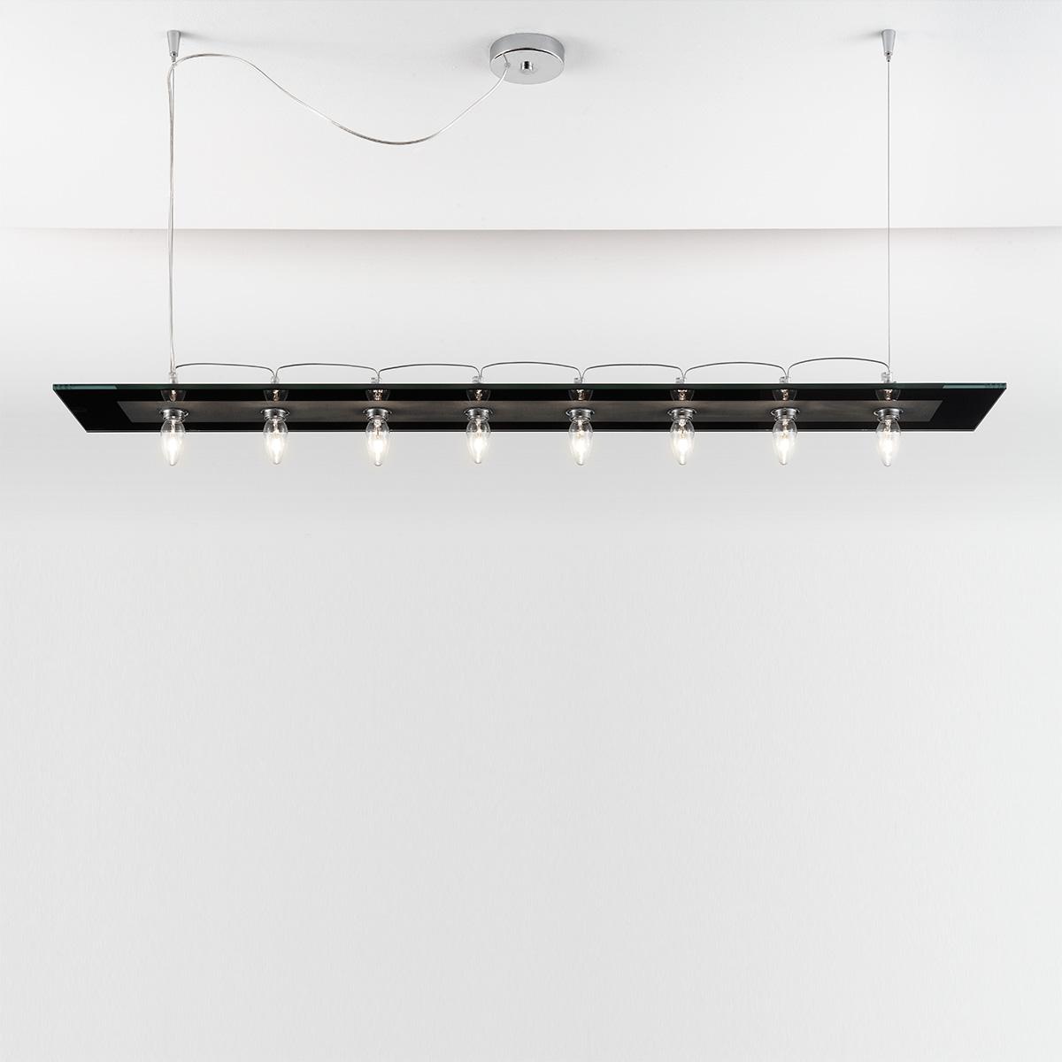 Μοντέρνο 8φωτο κρεμαστό φωτιστικό VETRO modern 8-bulb chandelier