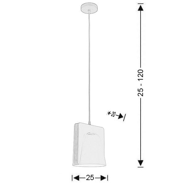 Modern ceramic suspension lamp | LAYERS - Drawing - Modern ceramic suspension lamp | LAYERS