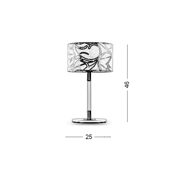 Modern table lamp | DISK II - Drawing - Modern table lamp | DISK II