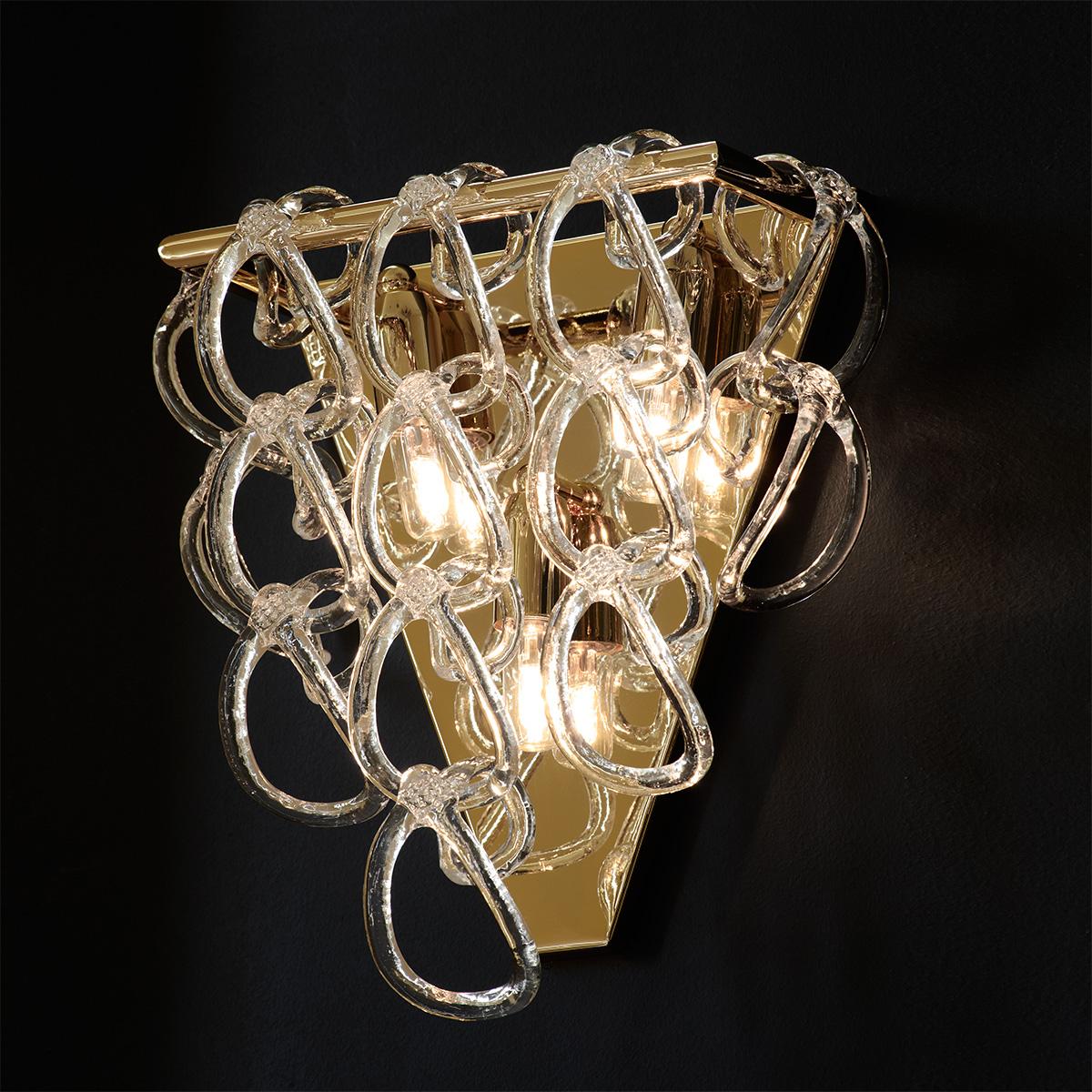 Επιτοίχιο φωτιστικό Μουράνο ΓΑΝΤΖΟΙ murano wall lamp