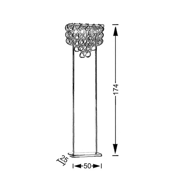 Επιδαπέδιο φωτιστικό Μουράνο | ΓΑΝΤΖΟΙ - Σχέδιο - Επιδαπέδιο φωτιστικό Μουράνο | ΓΑΝΤΖΟΙ