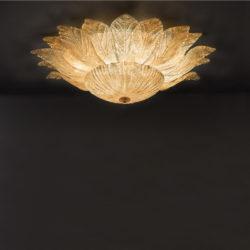 Κλασικό φωτιστικό με κρυστάλλινα φύλλα STELLA classic ceiling lamp with Murano crystal leaves