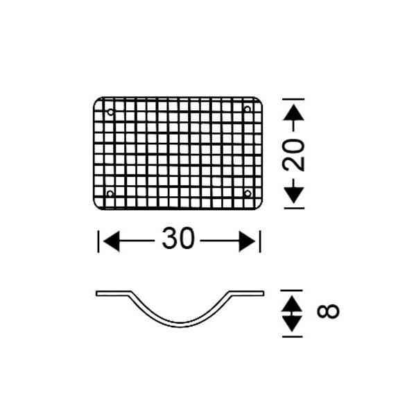 White Murano crystal wall lamp | MANTILI - Drawing - White Murano crystal wall lamp | MANTILI