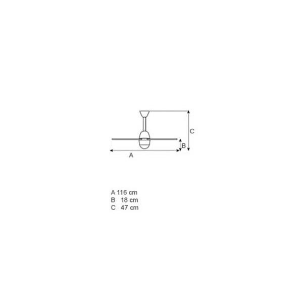 Ceiling fan grey | NOOS LED - Drawing - Ceiling fan grey | NOOS LED