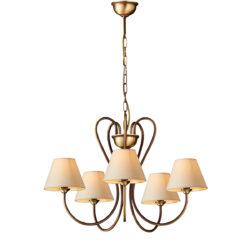 Κλασικό πολύφωτο με καπέλα ΝΑΞΟΣ-1 5-bulb chandelier with lamp shades