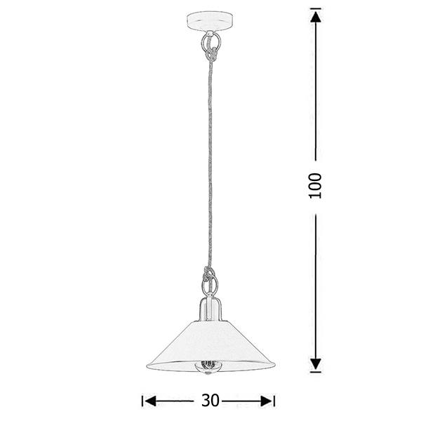 Retro pendant lamp silk grey | MILOS - Drawing - Retro pendant lamp silk grey | MILOS