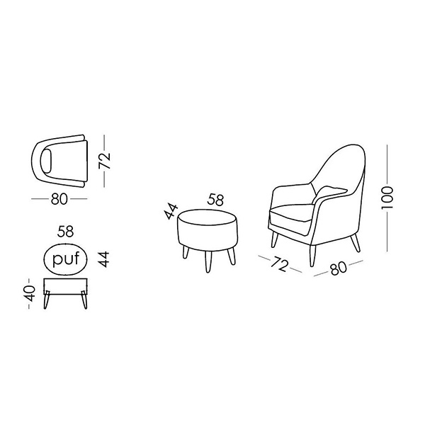 Special chair | MIRANDA collection - Drawing - Special chair | MIRANDA collection