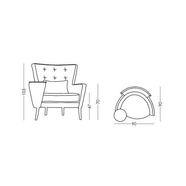 Κομψή πολυθρόνα | AGATHA & CHRISTIE - Σχέδιο - Κομψή πολυθρόνα | AGATHA & CHRISTIE