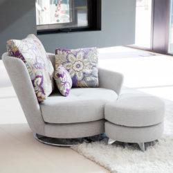 Πολυθρόνα με υποπόδιο ROXANE armchair with footstool