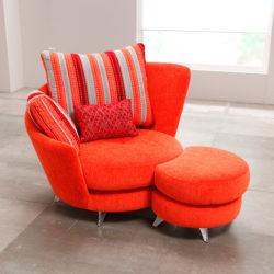 Πολυθρόνα με υποπόδιο ROXANNE armchair with footstool